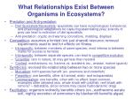 what relationships exist between organisms in ecosystems