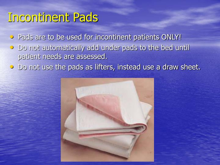 Incontinent Pads
