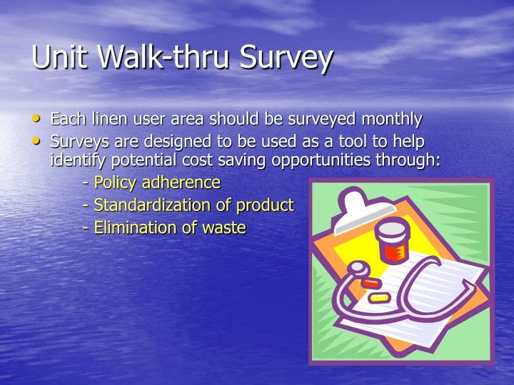 Unit Walk-thru Survey