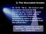 2 the uncreated creator1