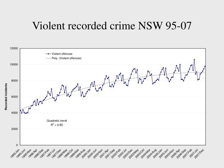 Violent recorded crime NSW 95-07
