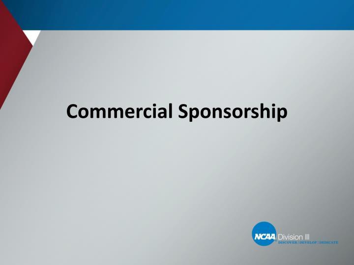 Commercial Sponsorship
