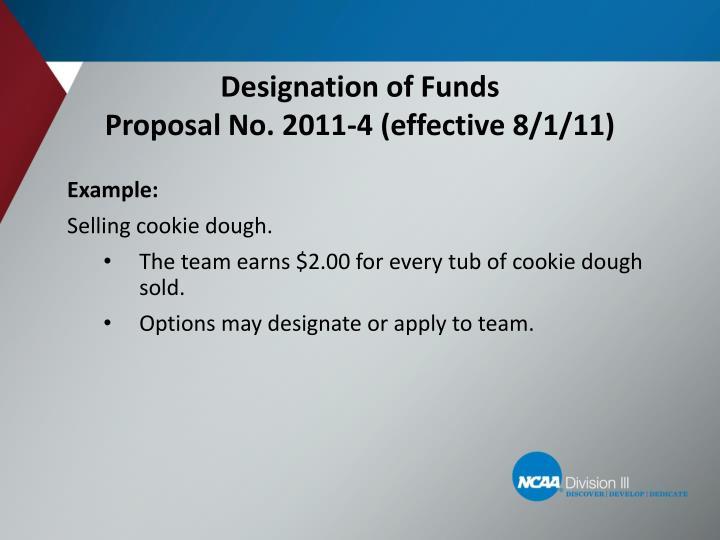 Designation of Funds