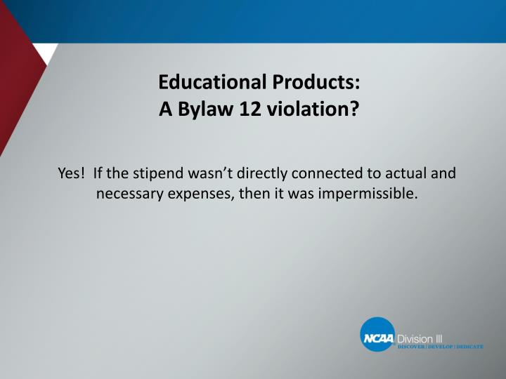 Educational Products: