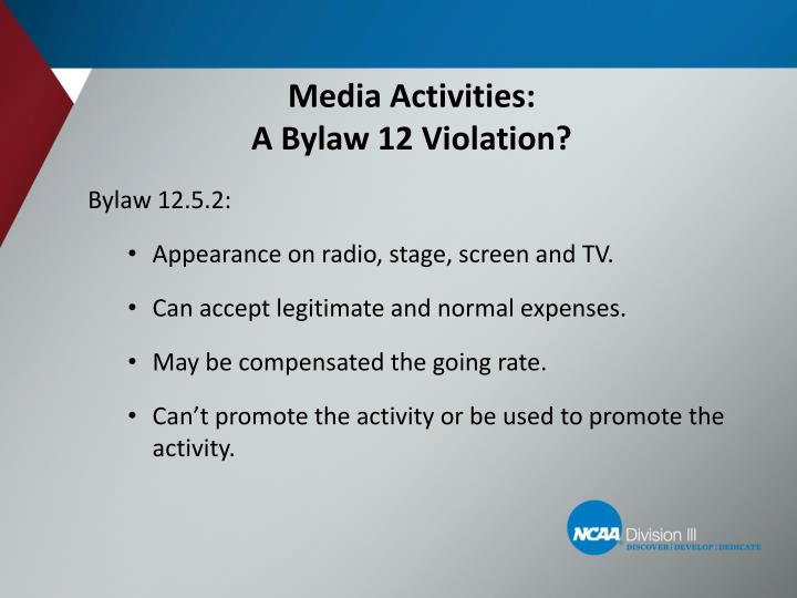 Media Activities: