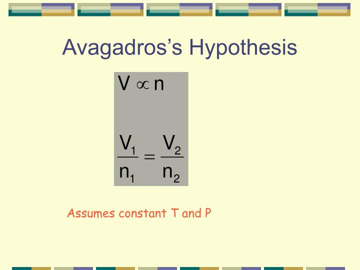 Avagadros's Hypothesis