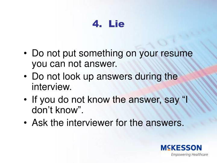 4.  Lie