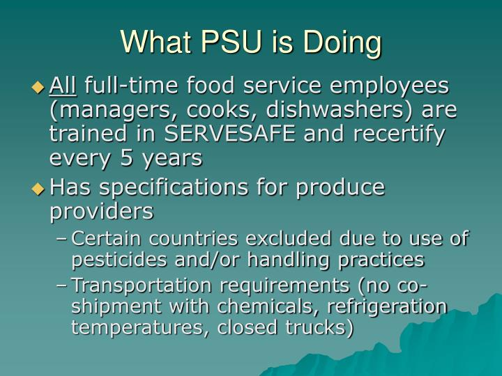 What PSU is Doing