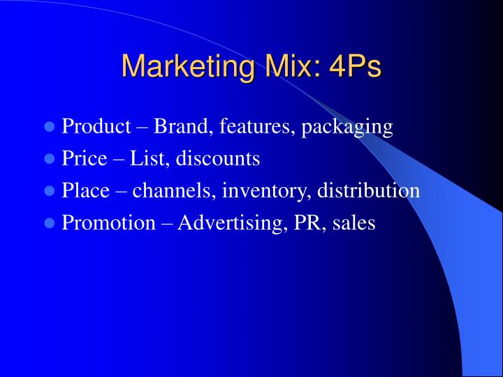 Marketing Mix: 4Ps