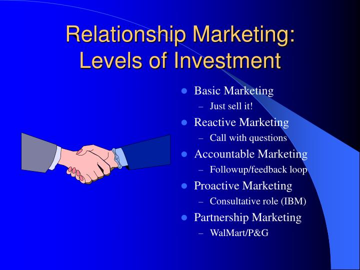 Relationship Marketing: Levels of Investment