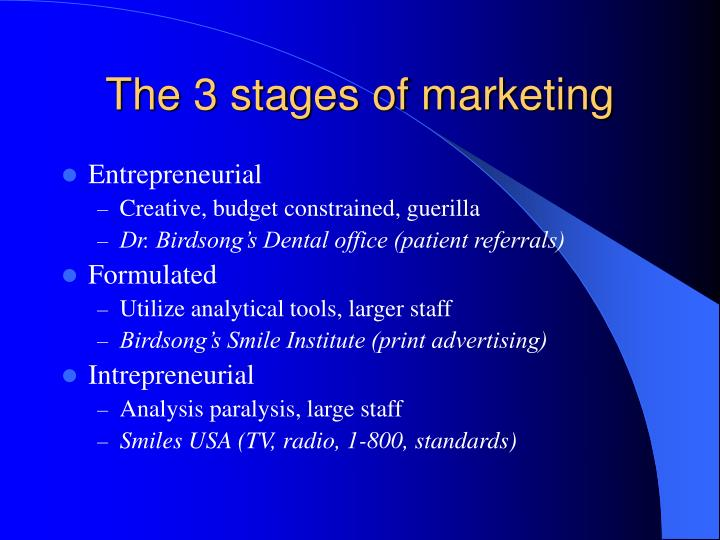 The 3 stages of marketing