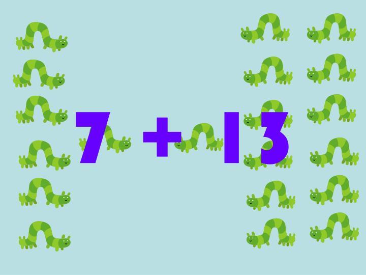 7 + 13