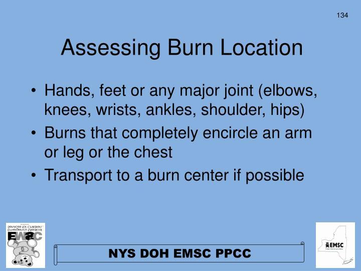 Assessing Burn Location