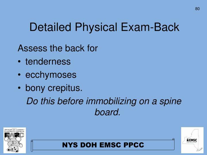 Detailed Physical Exam-Back