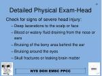 detailed physical exam head