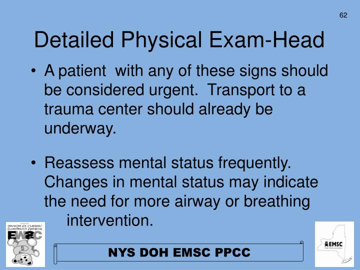 Detailed Physical Exam-Head