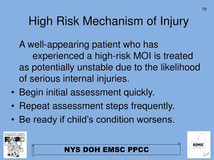 High Risk Mechanism of Injury