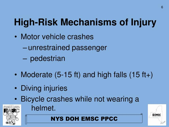 High-Risk Mechanisms of Injury