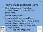 high voltage electrical burns