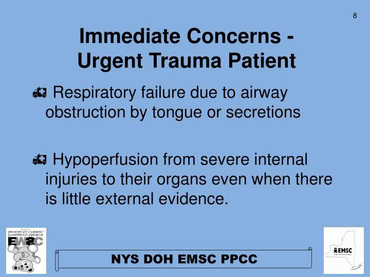 Immediate Concerns -