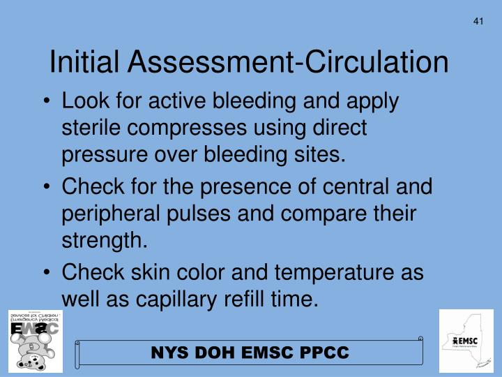 Initial Assessment-Circulation