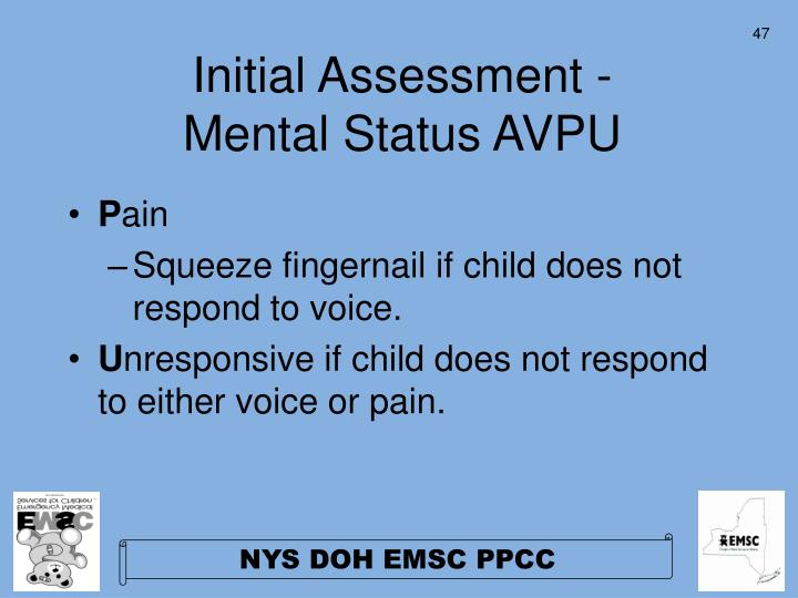 Initial Assessment -