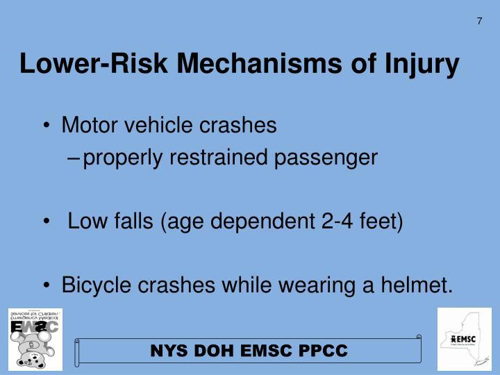 Lower-Risk Mechanisms of Injury
