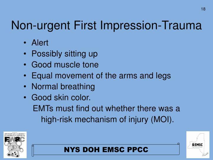 Non-urgent First Impression-Trauma