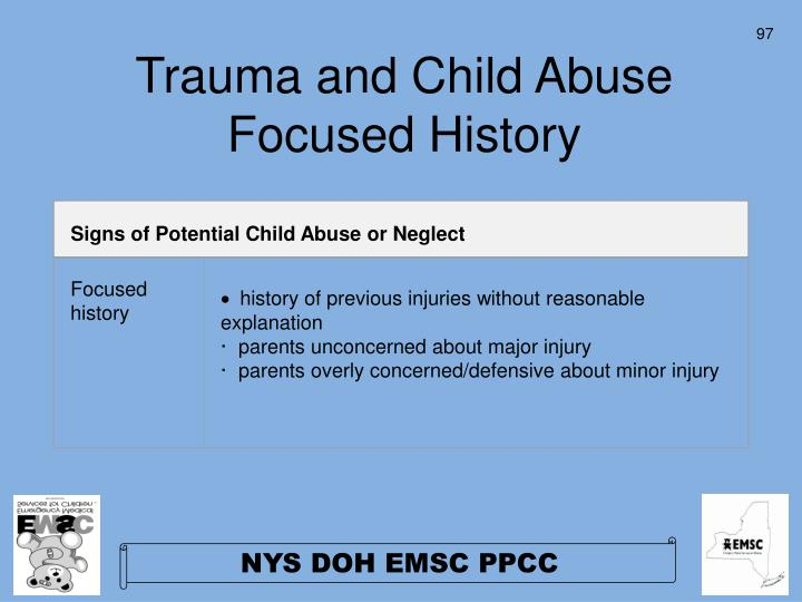 Signs of Potential Child Abuse or Neglect