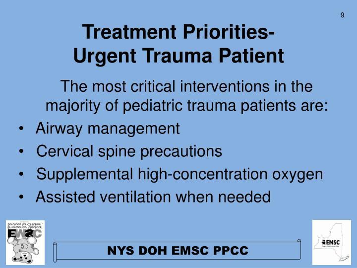 Treatment Priorities-