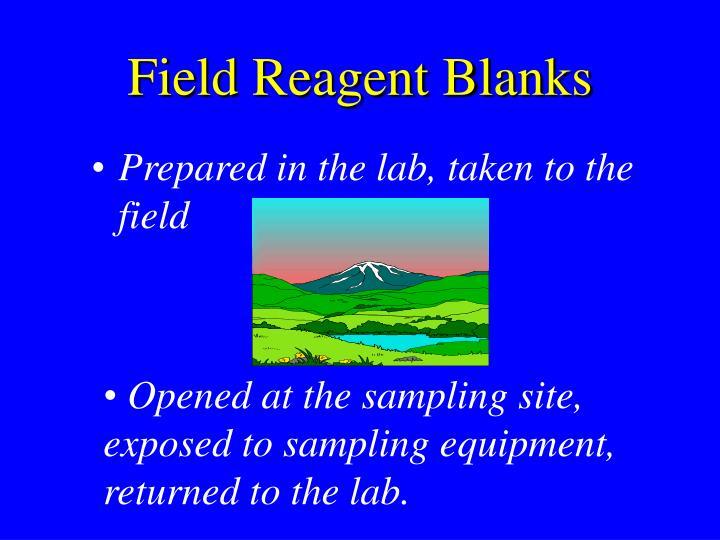 Field Reagent Blanks