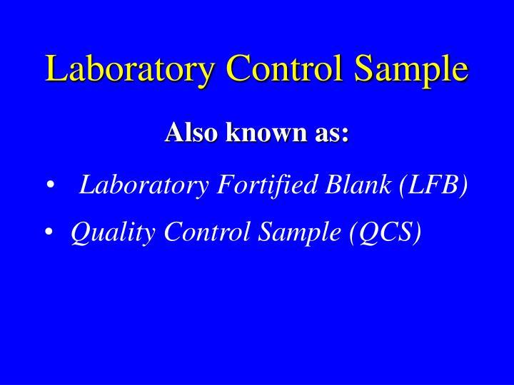 Laboratory Control Sample