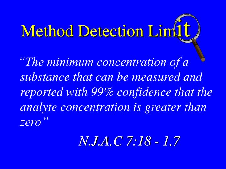 Method Detection Lim