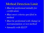 method detection limit1