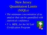 new jersey quantitation limits njqls