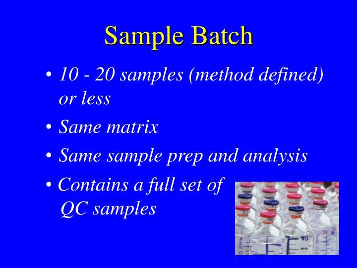 Sample Batch