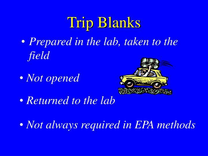 Trip Blanks