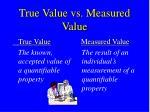 true value vs measured value