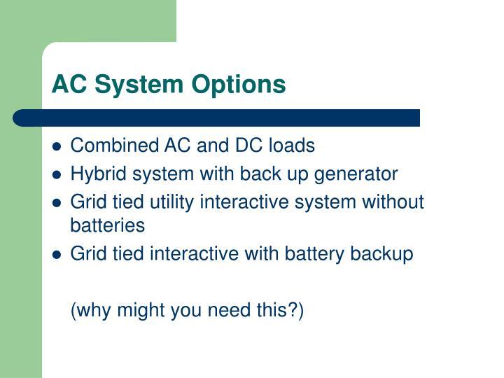 AC System Options