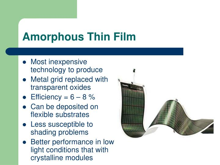 Amorphous Thin Film