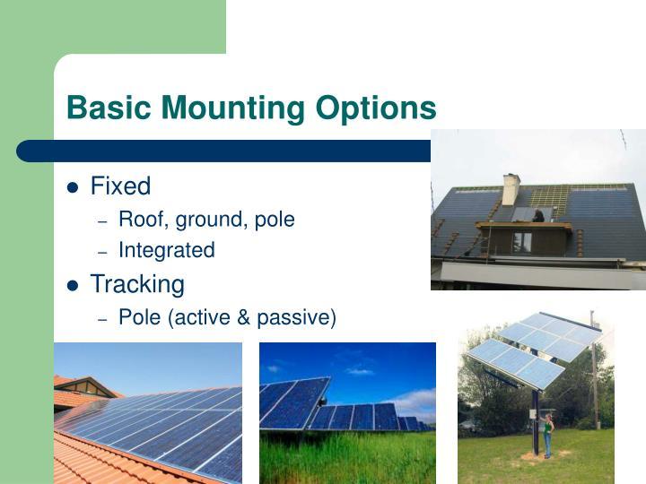 Basic Mounting Options