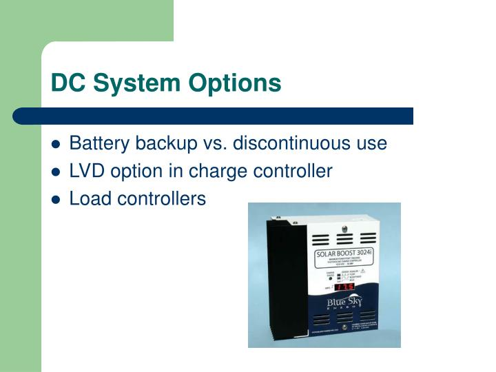 DC System Options
