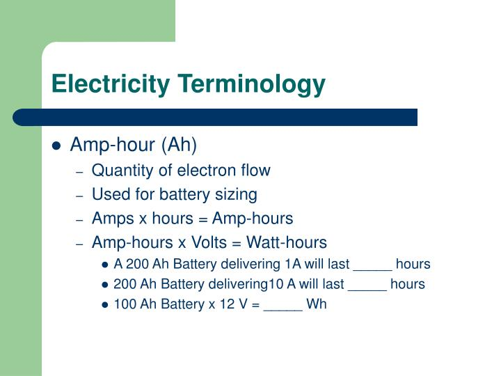 Electricity Terminology