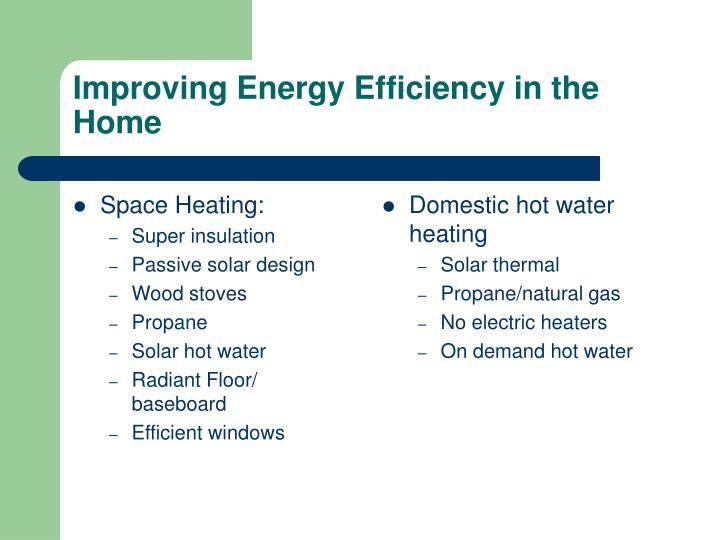 Space Heating: