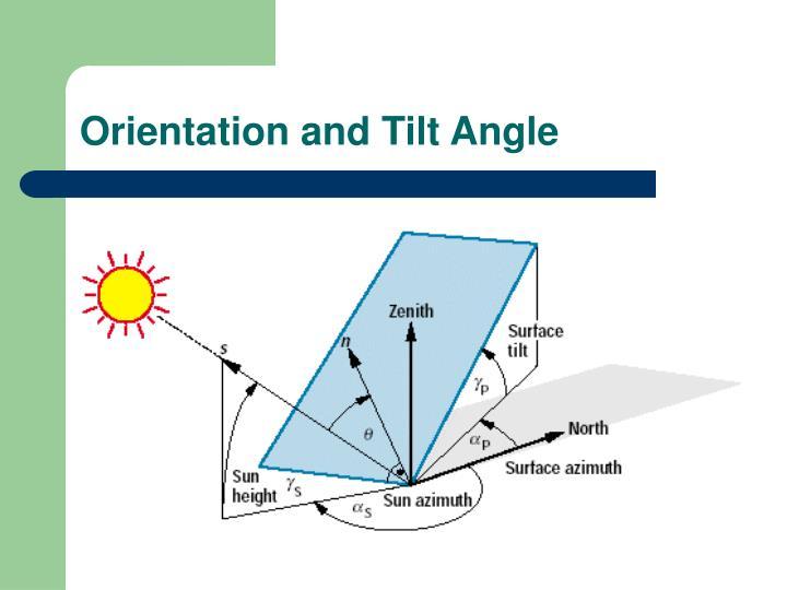 Orientation and Tilt Angle
