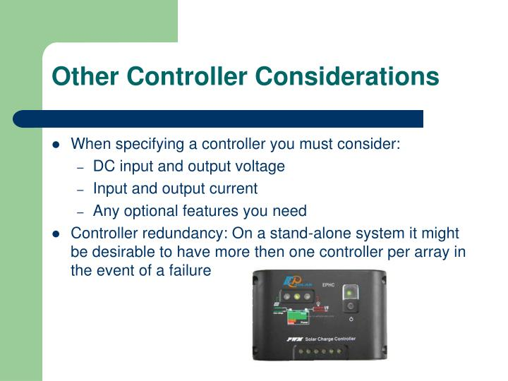 Other Controller Considerations