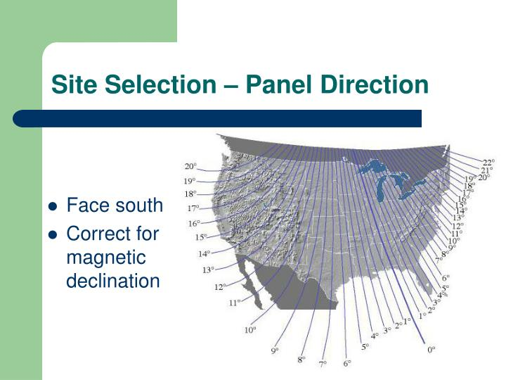 Site Selection – Panel Direction