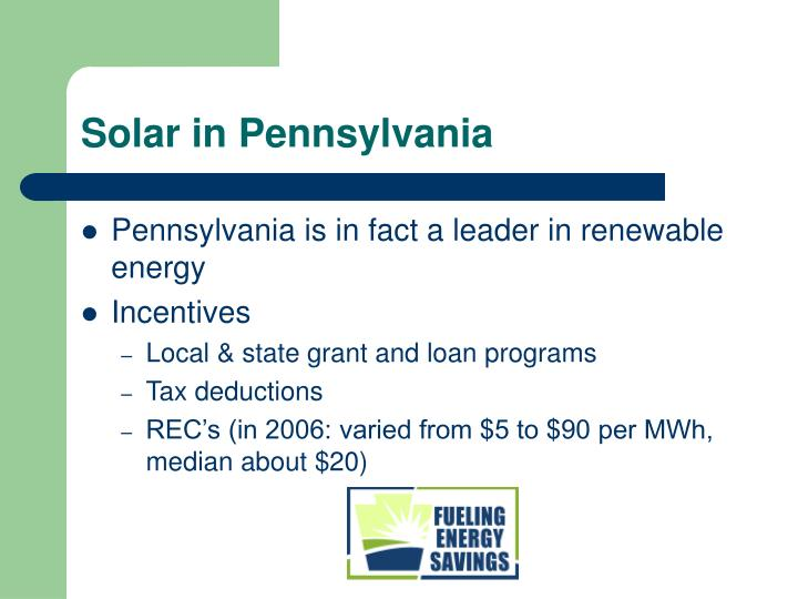 Solar in Pennsylvania