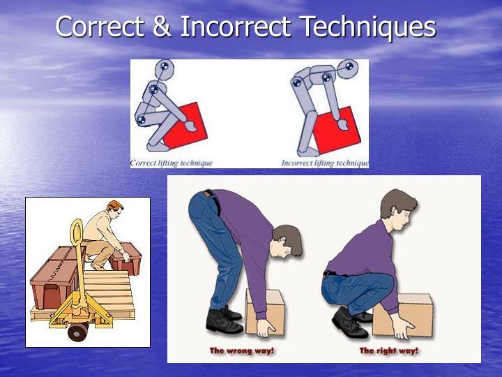 Correct & Incorrect Techniques