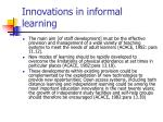 innovations in informal learning13
